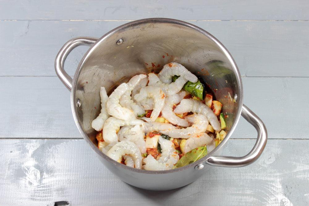 Surové krevety