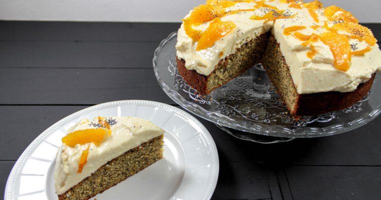 Pomarančovo-makový koláč z celozrnnej múky