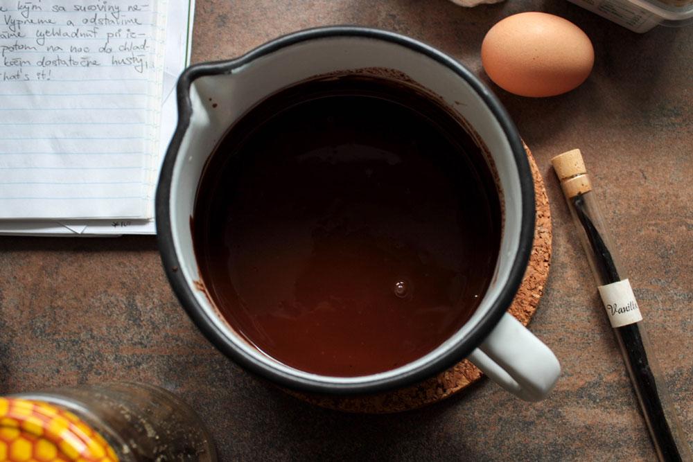 Chocolate ganache with coffee