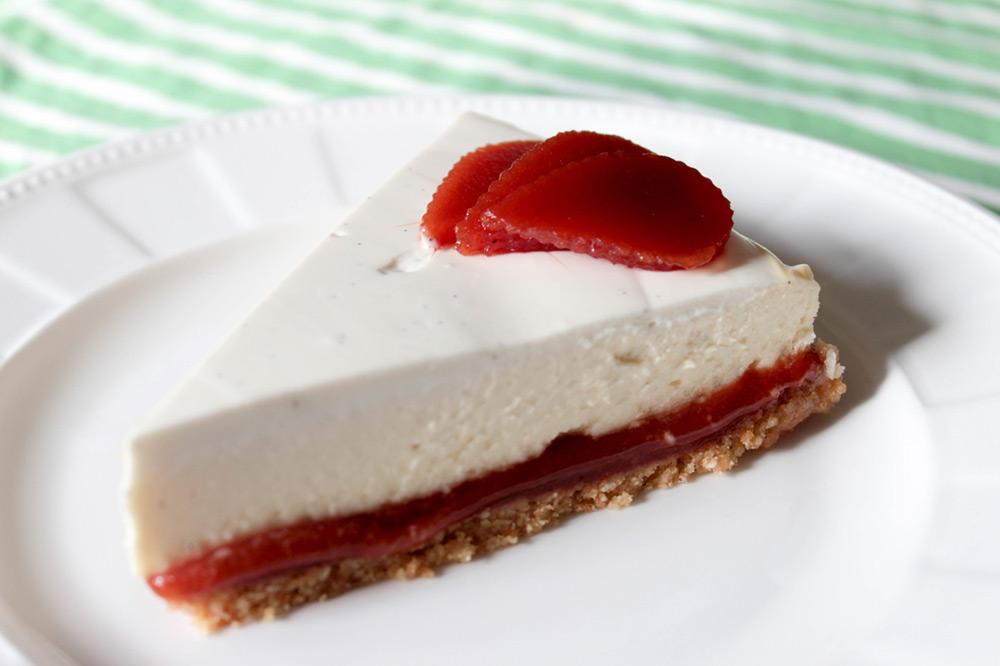Guávový cheesecake