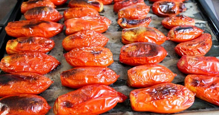 Oven-roasted canned tomatoes