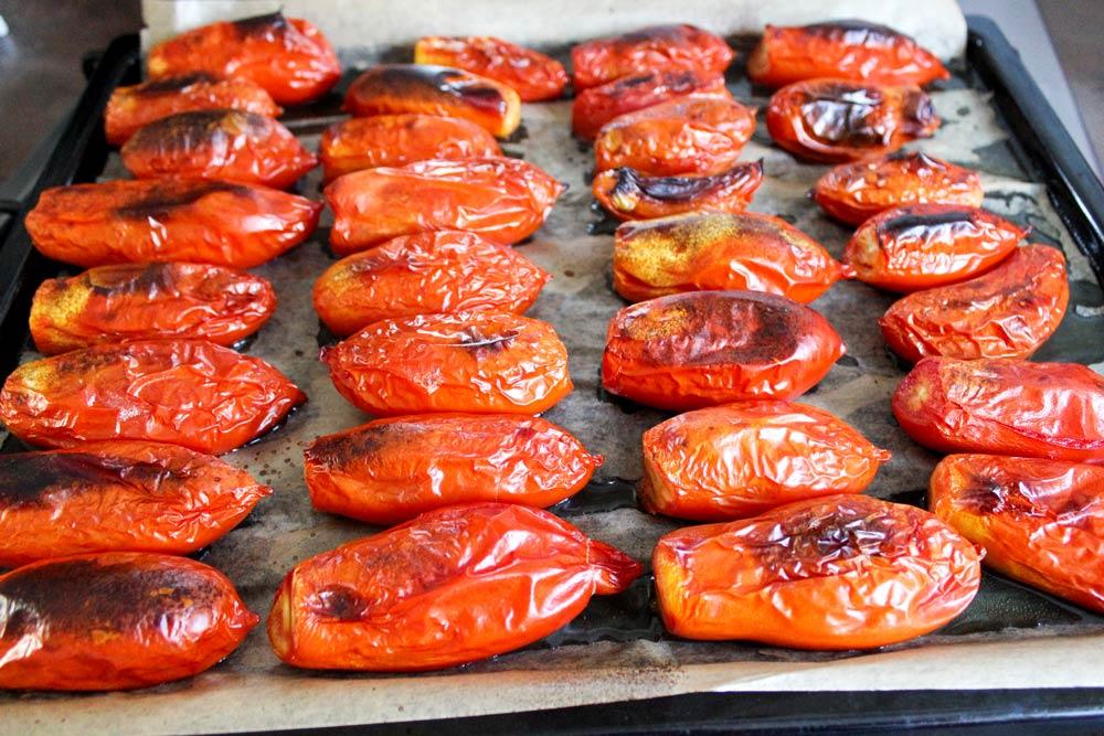 Pečené zavárané paradajky