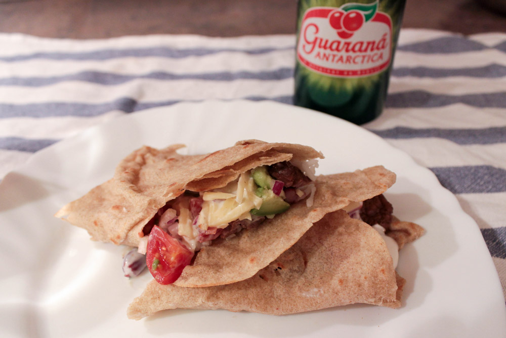 Hovädzie mäso s guacamole taco