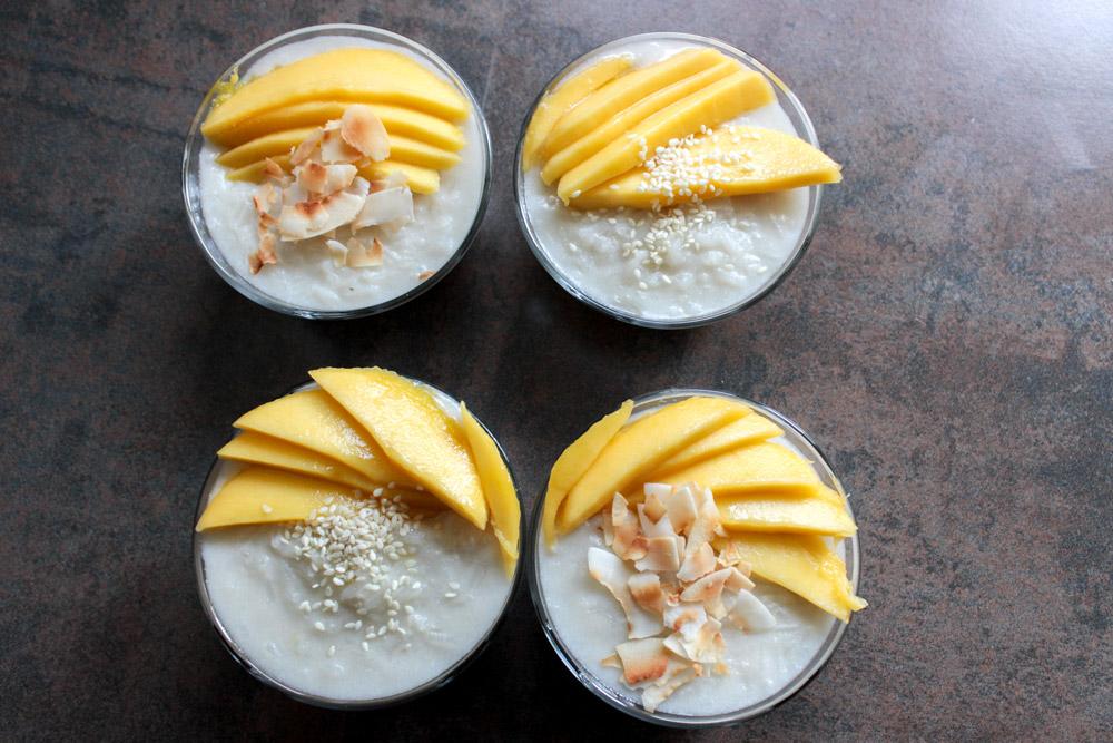 Kokosová ryža s mangom