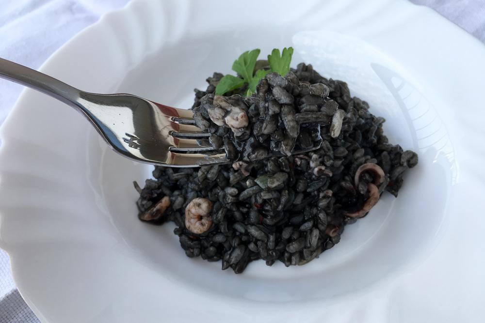 Sépiové rizoto s morskými plodmi