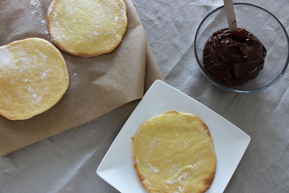 Skladanie dobošovej torty
