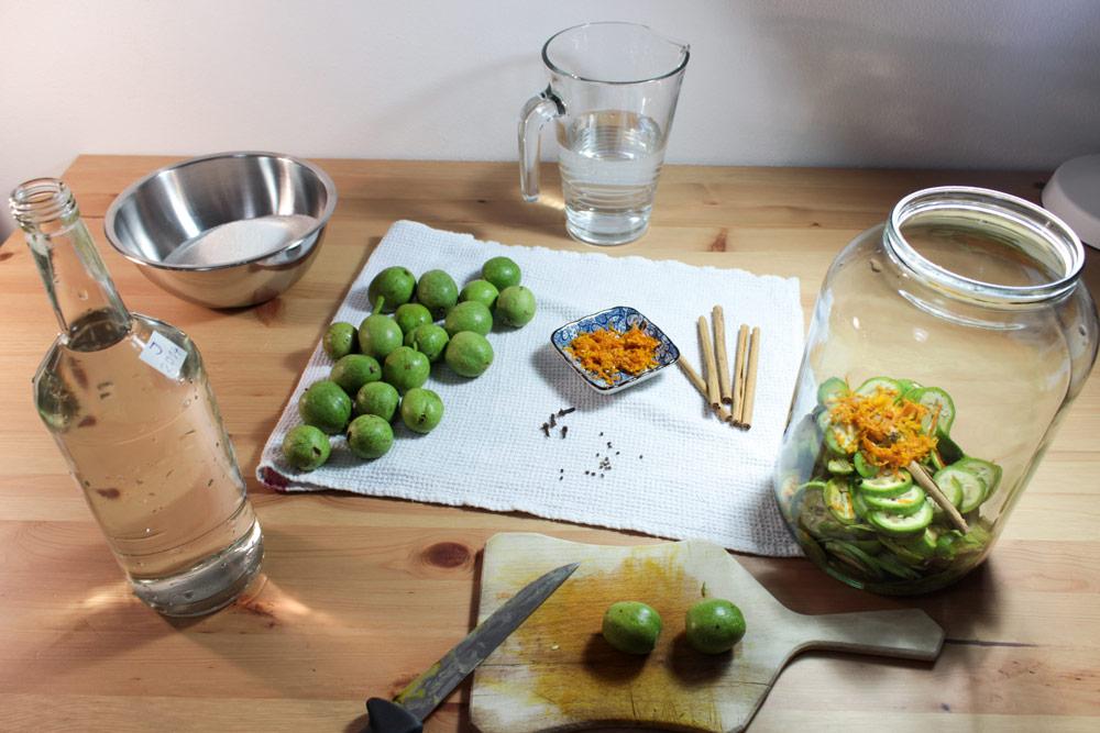 Ingrediencie na domácu orechovicu