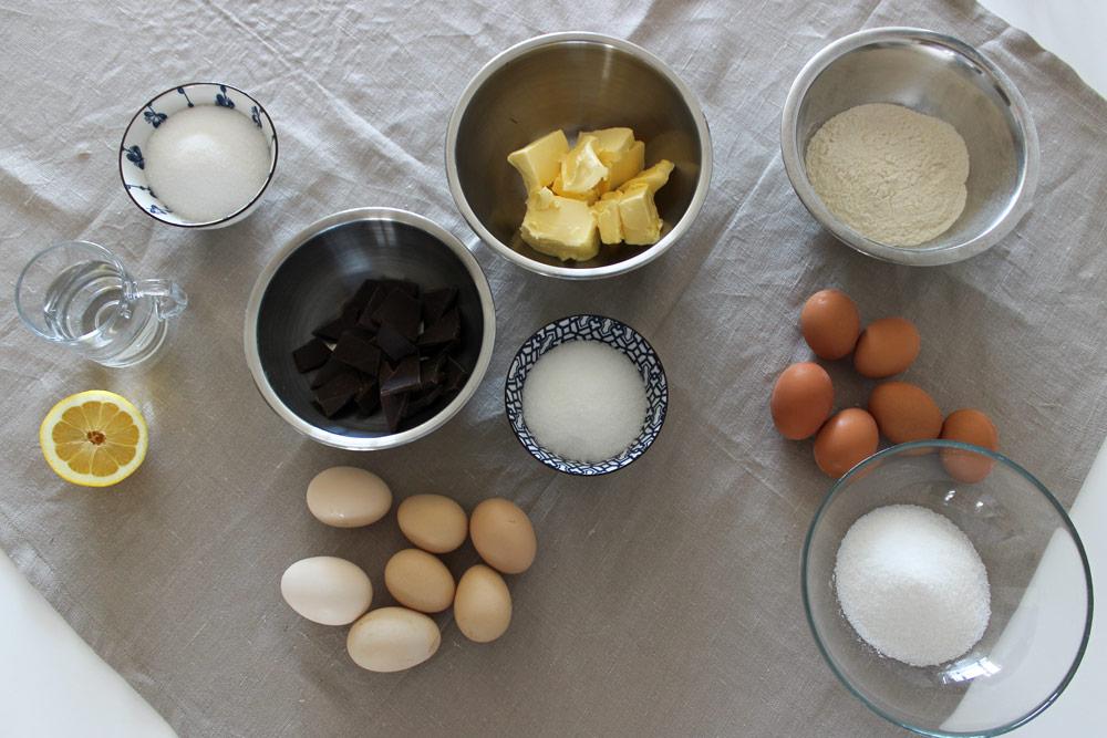 Dobošova torta suroviny