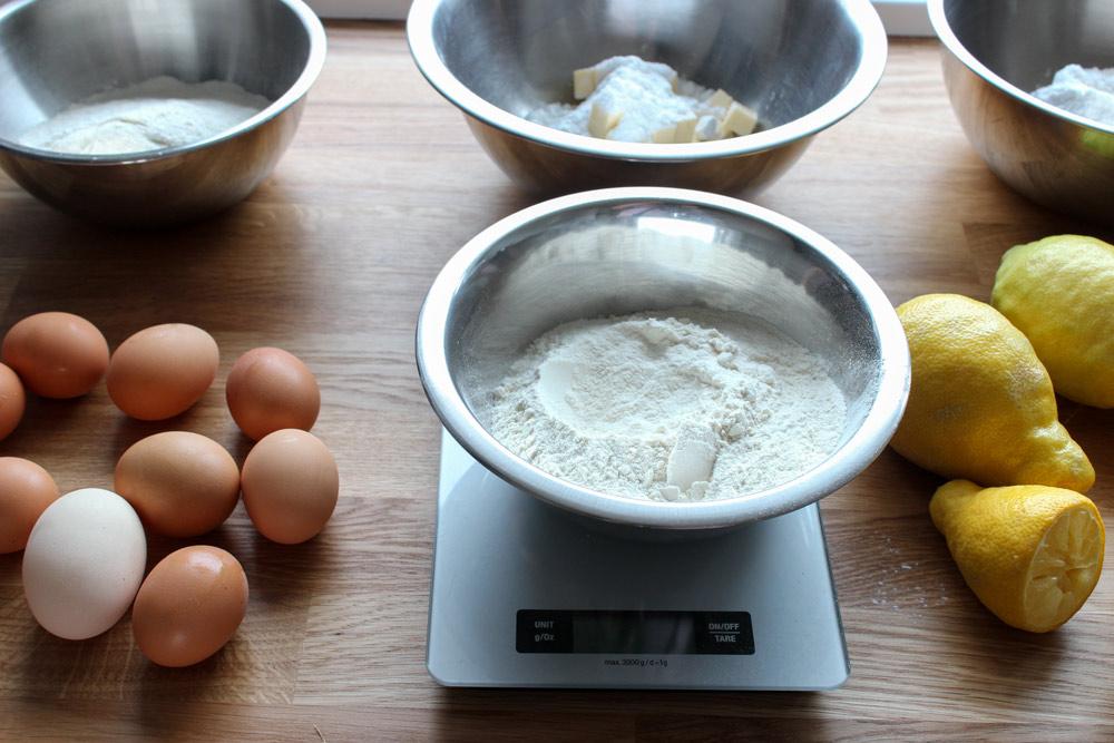 Ingrediencie na citrónovú tartu