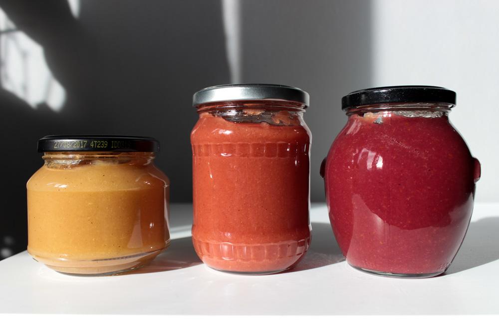 Ovocné detské výživy v pohároch