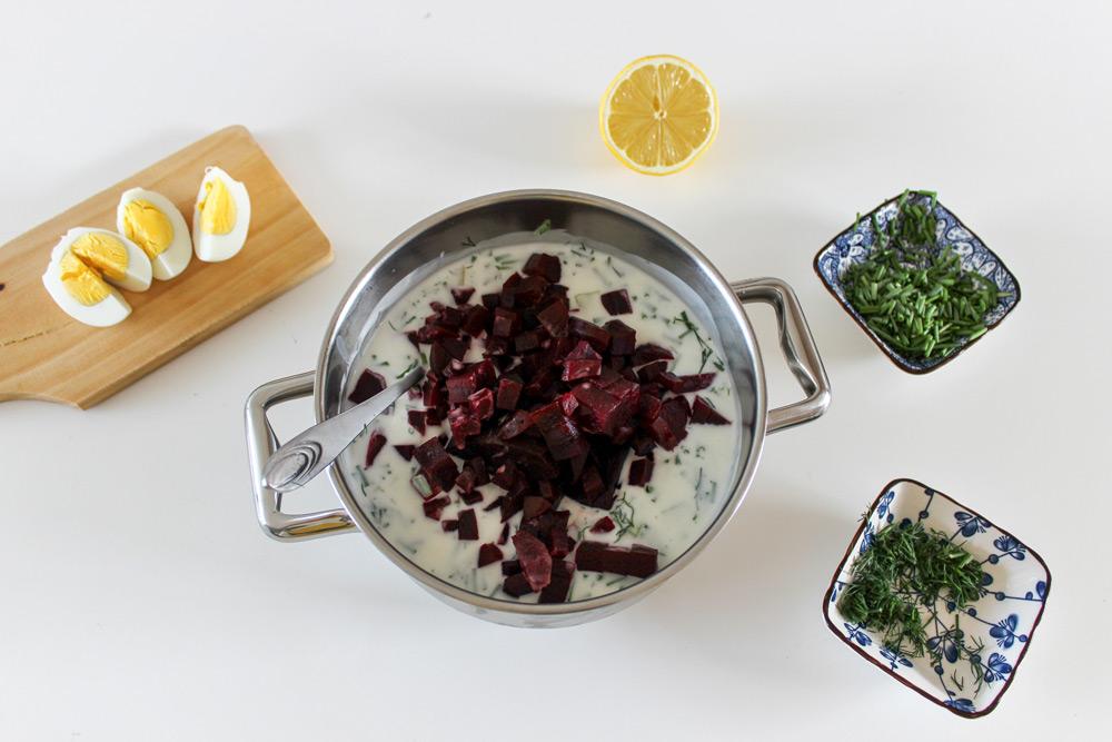 Príprava studenej polievky