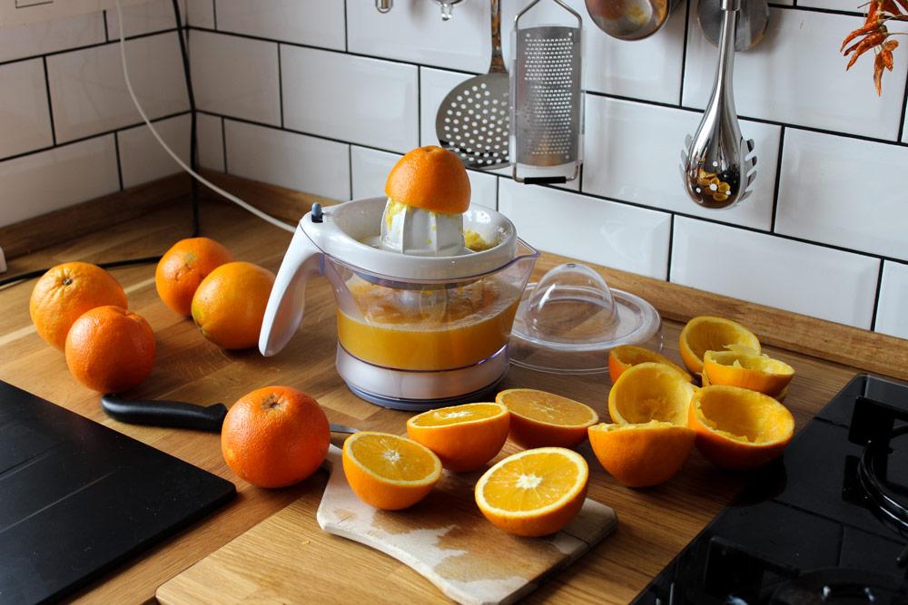 Šťava z pomarančov
