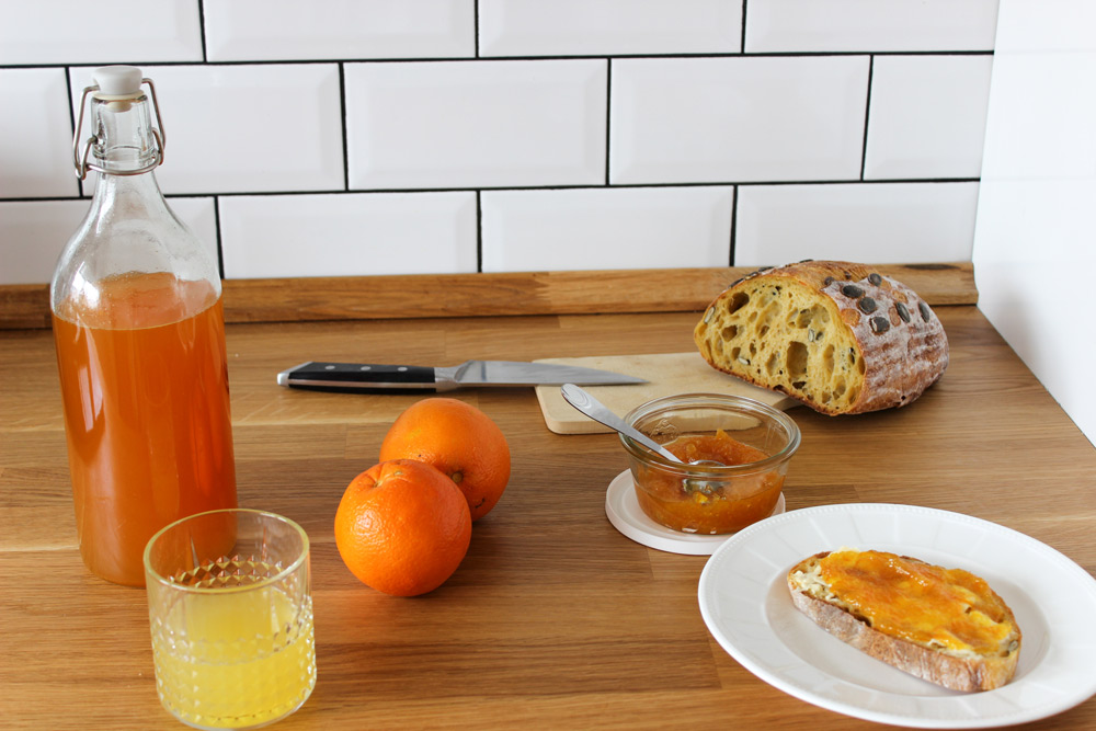 Pomarančový sirup a džem